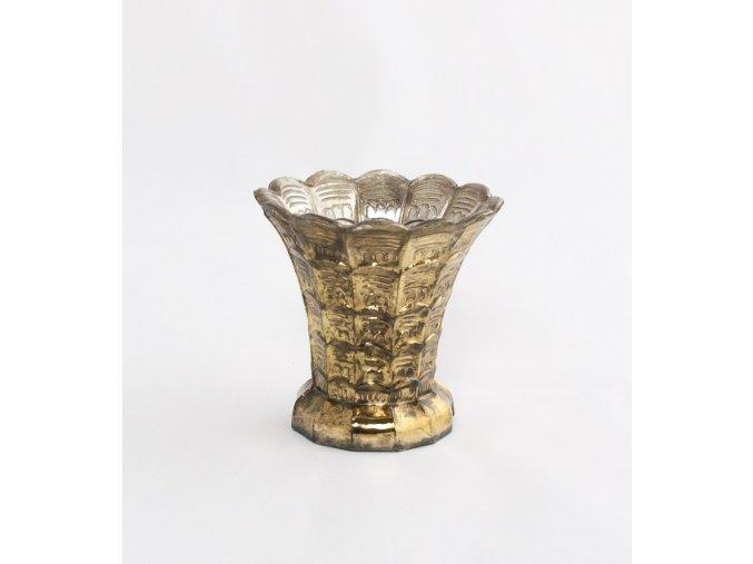 Váza se zlatou patinou 10 cm