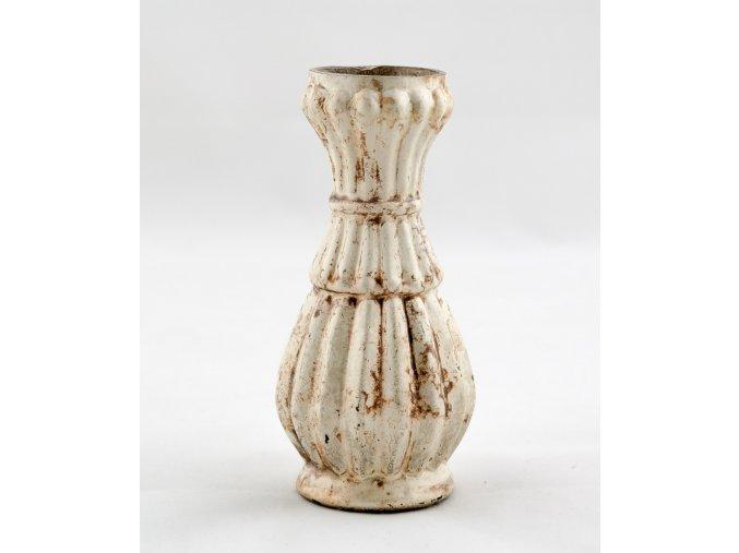 Váza s krémovou patinou 13 cm