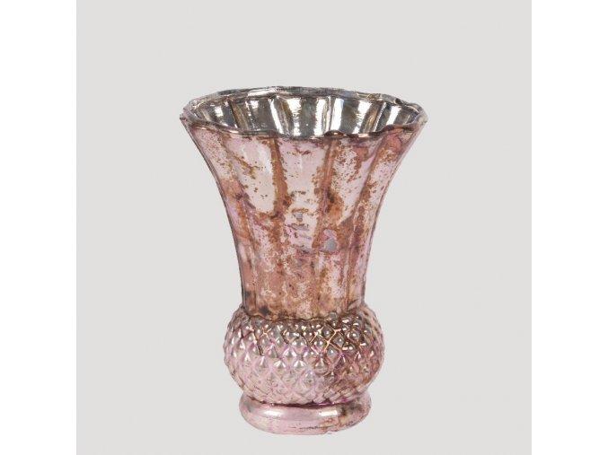 Váza se starorůžovou patinou 13 cm