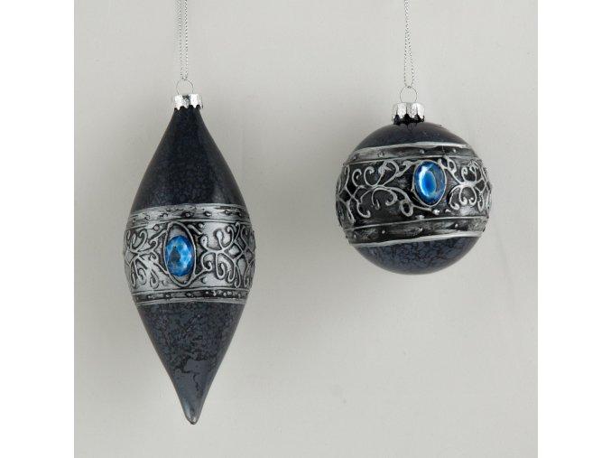 Set rustikální ozdoby s modrým kamenem