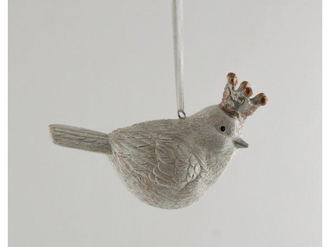 Set ptáček bílý závěsný s korunkou