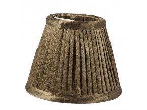 Stojací lampa na clip se stínidlem z hedvábného sametu, 13 cm