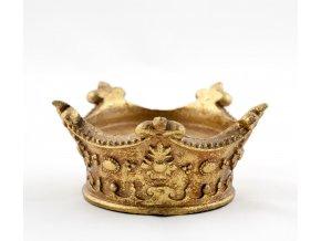 Svícen ve tvaru koruny zlatý