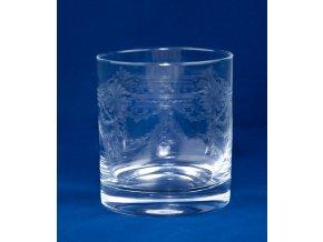 Set sklenic na whisky s rytým dekorem