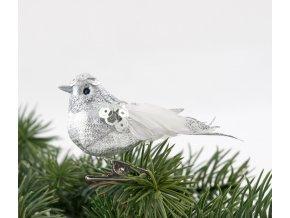 Set stříbrných ptáčků na klipsu