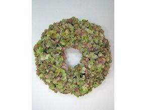 Colours Green Hydrangea Wreath 46cm 101224GRMA