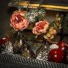 Růže a echeverie 35 cm