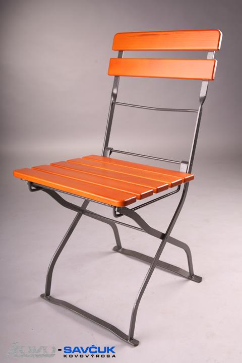 Zahradní kovová skládací židle Jea