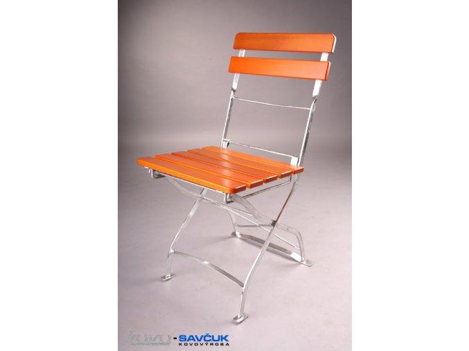 Zahradní kovová skládací židle Tirza