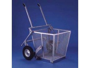 Abfallbehälter Minifix mit Transportroller 2