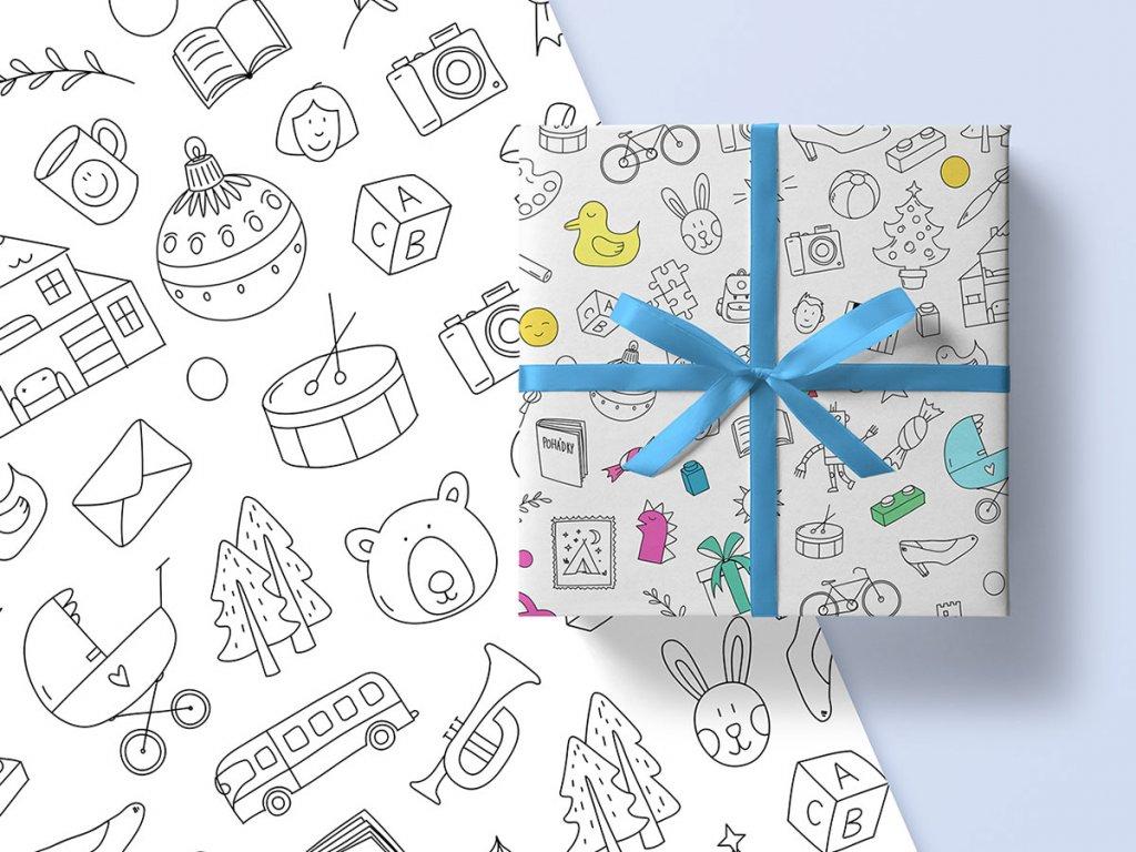 Balicí papír Krabice od bot k vymalování