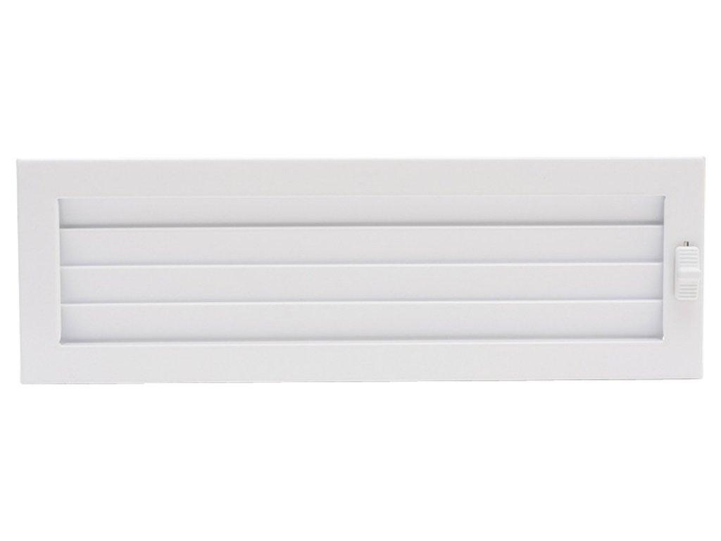 HARK Krbová mřížka HARK Lamelle 15x45 cm, bílá, regulovací, vyndavací