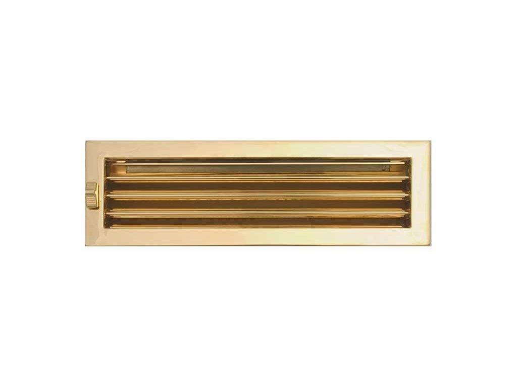 HARK Krbová mřížka HARK Lamelle 15x46 cm, zlato, regulovací, vyndavací