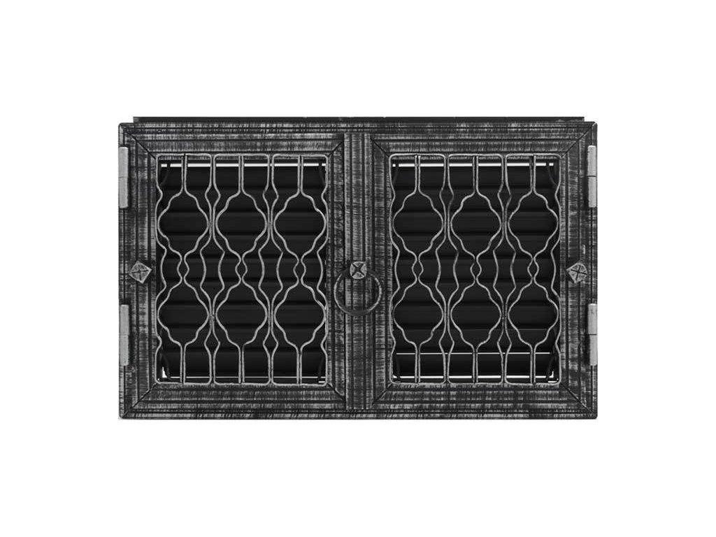 HARK Krbová mřížka HARK Lindau 28x46 cm, černá antik, regulovatelná