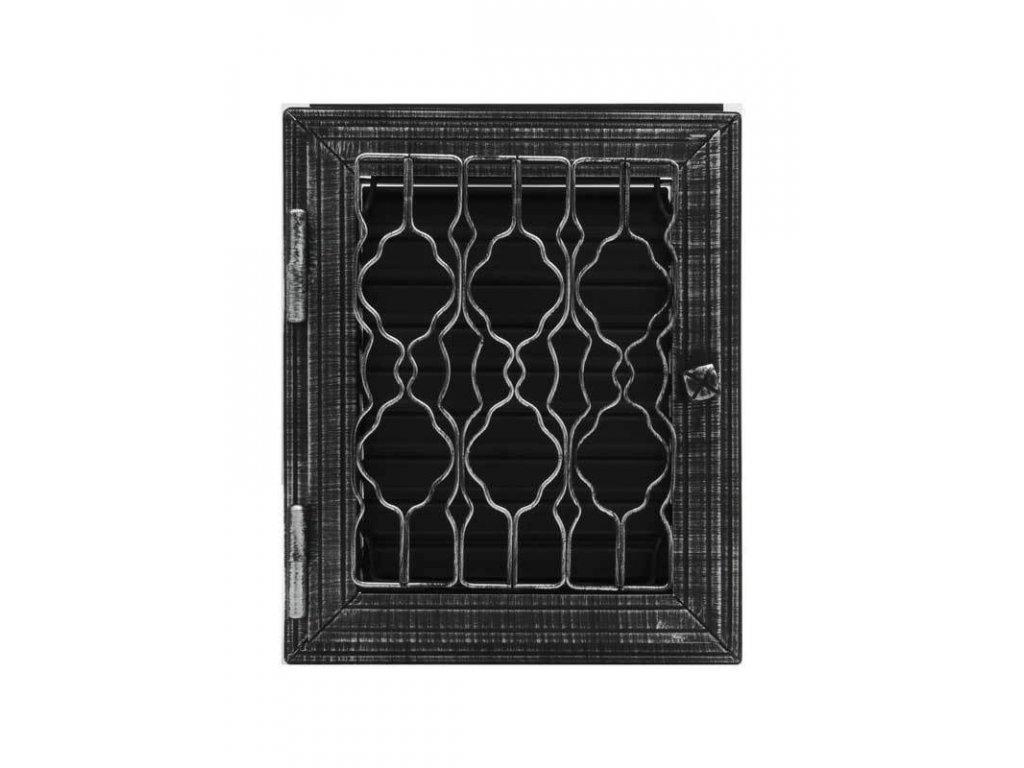 HARK Krbová mřížka HARK Lindau 28x23 cm, černá antik, regulovatelná