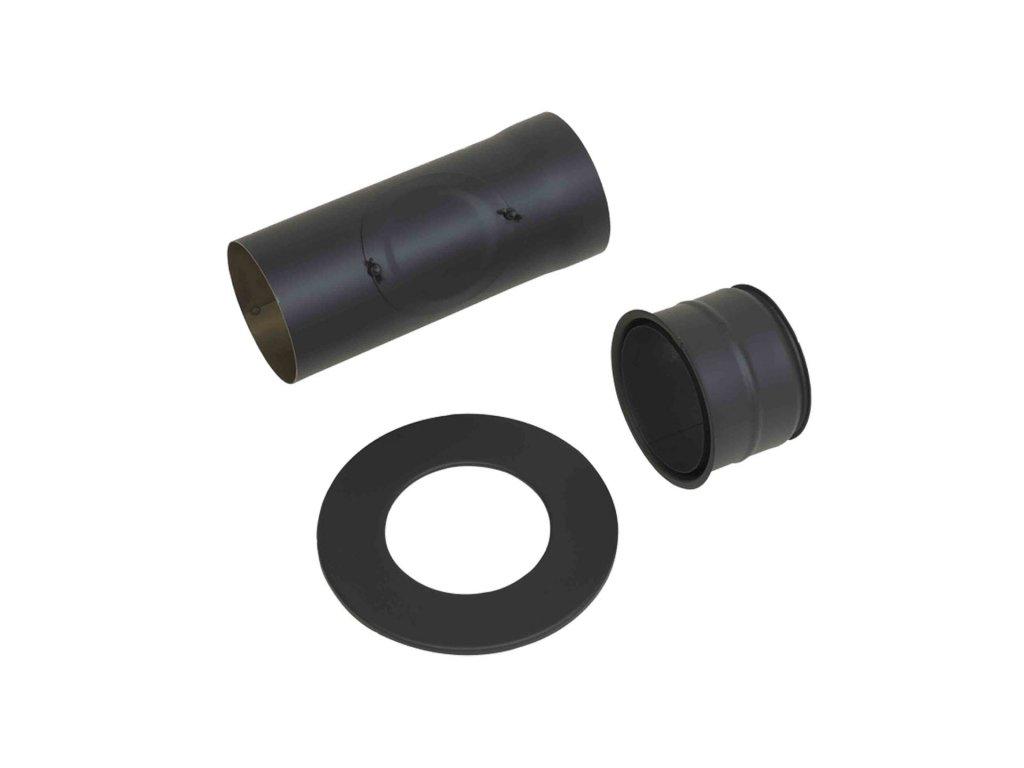 HARK kouřovod, zadní set STD, roura Ø 150/L 350/2 mm s čistícím otvorem, graphit