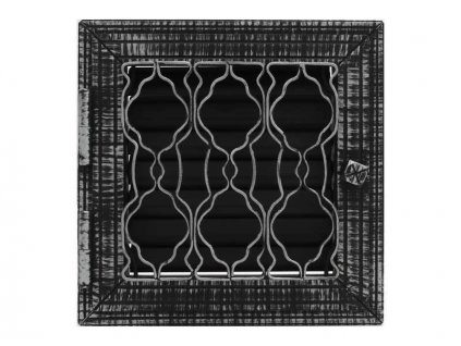 HARK Krbová mřížka HARK Lindau 23x23 cm, černá antik, regulovatelná
