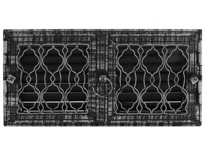 HARK Krbová mřížka HARK Lindau 23x46 cm, černá antik, regulovatelná