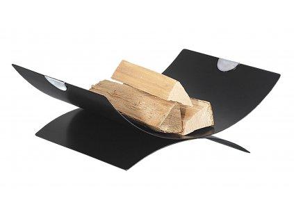 HARK Moderní koš na dřevo HARK HK70-0180, černá, chrom