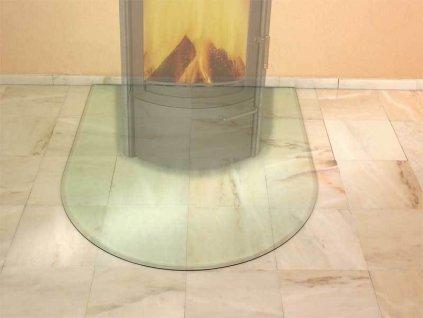 HARK Skleněná podložka pod krbová kamna HARK 100x120 cm s fazetkou