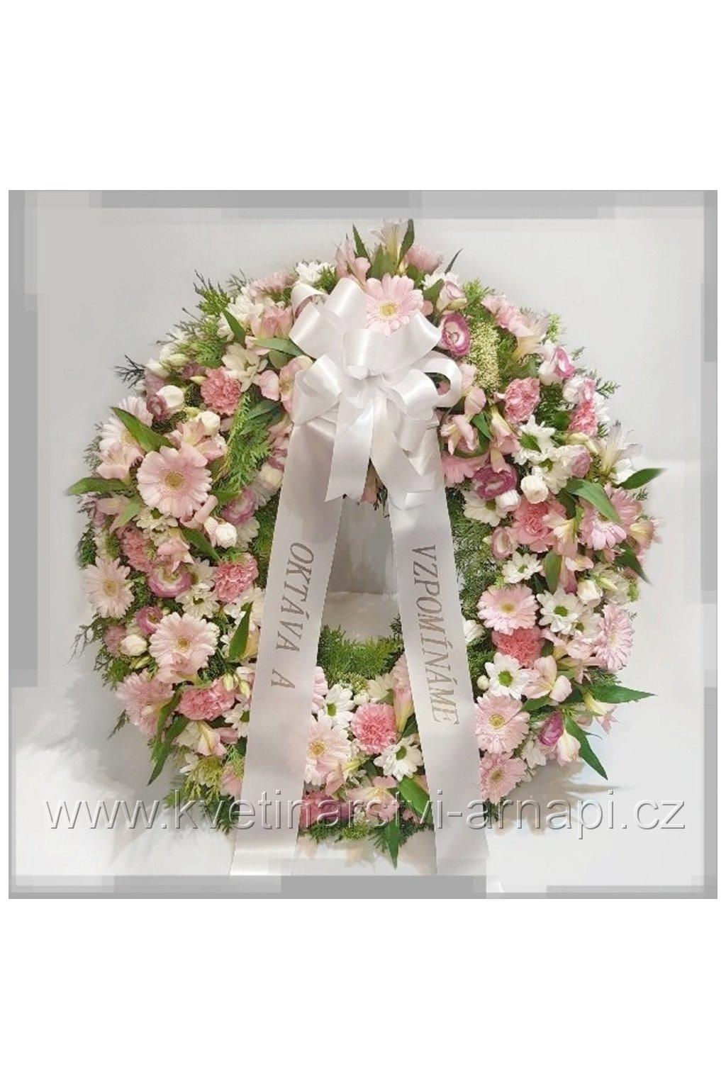 smutecni venec smutecni stuha rozvoz eshop kvetinarstvi arnapi
