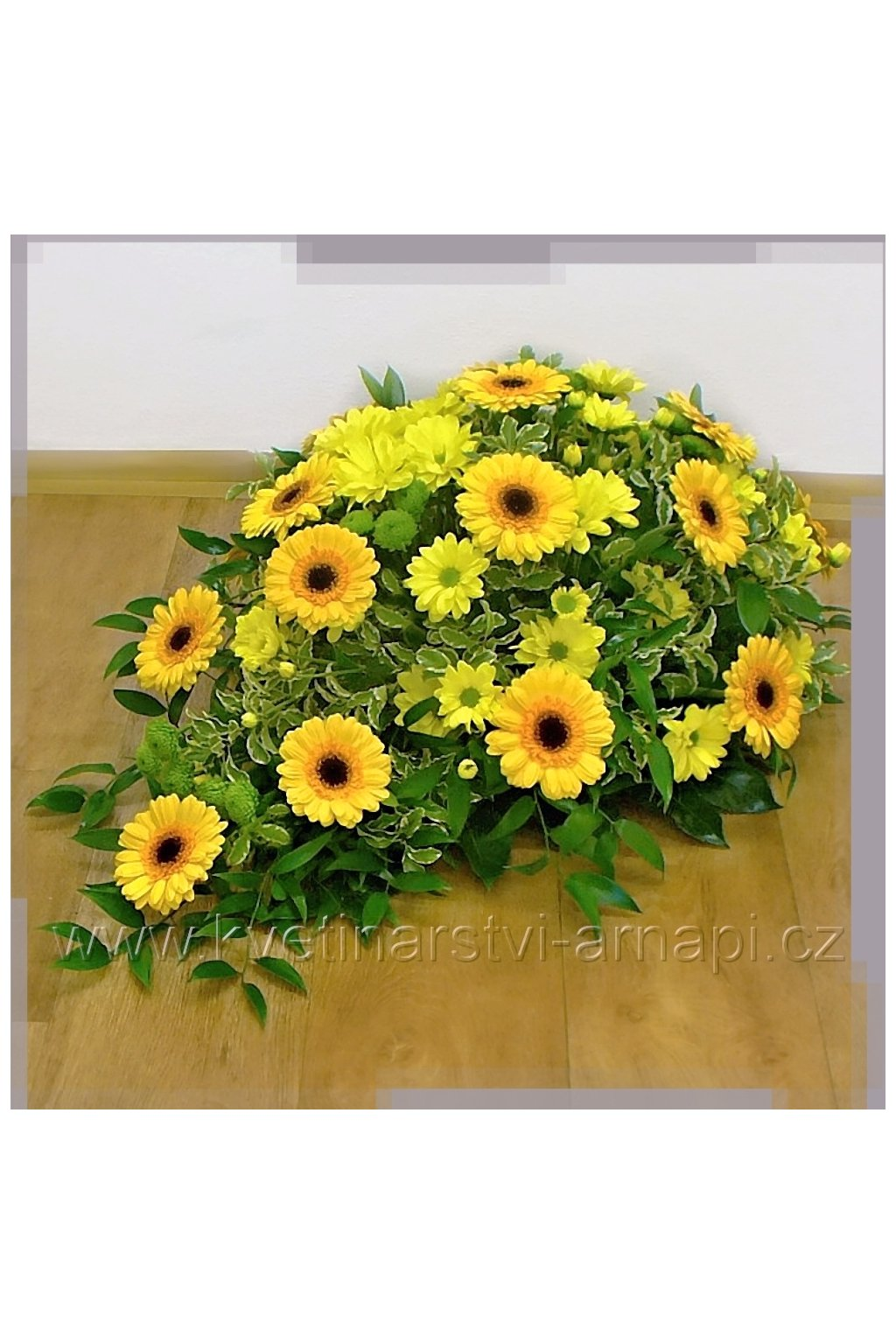 smutecni kytice gerbery zlute kvetinarstvi arnapi