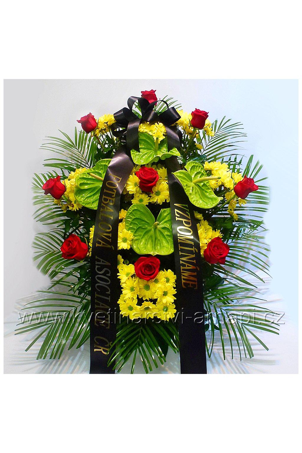 smutecni kytice ruze kvetinarstvi arnapi