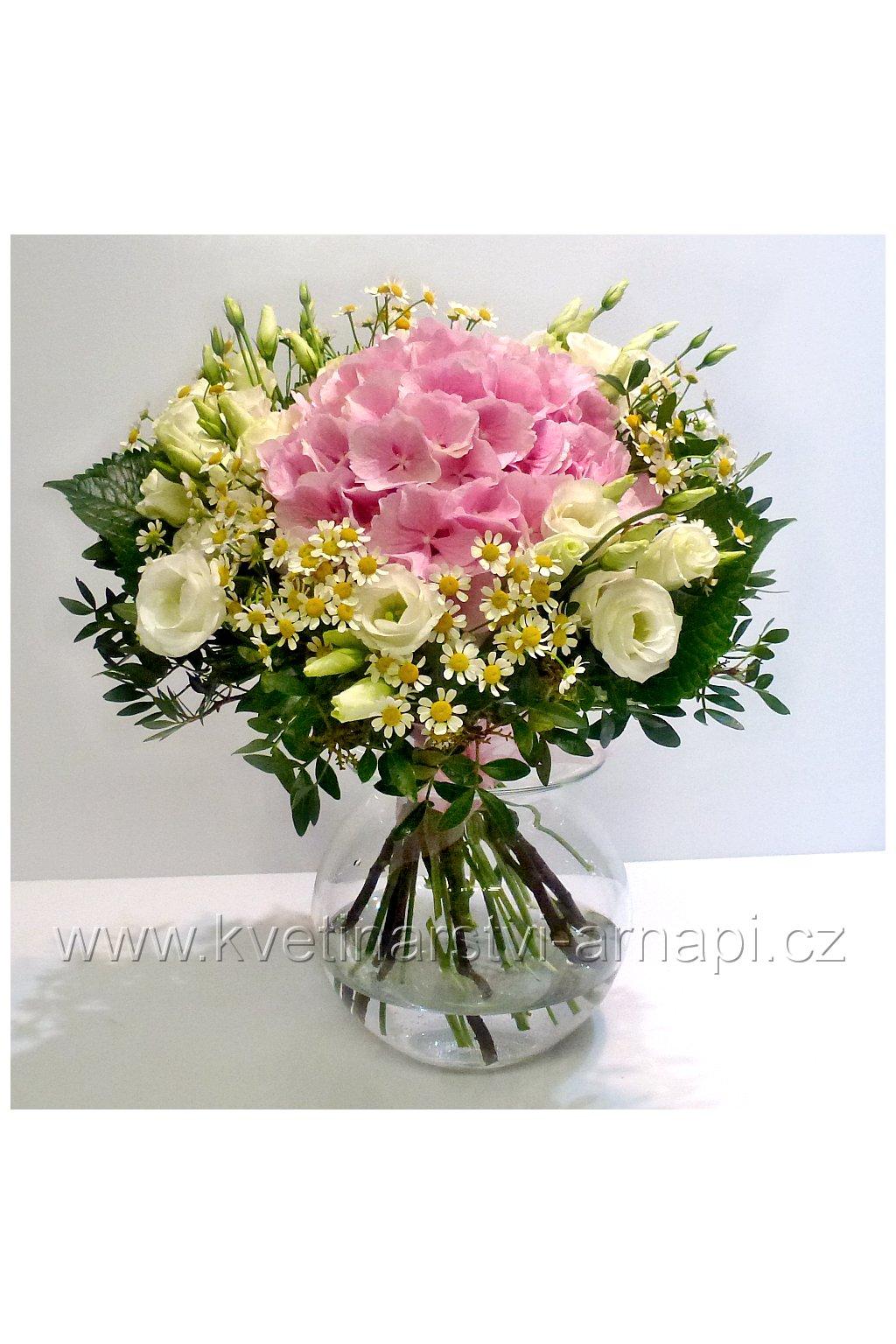 kytice hortenzie kvetinarstvi arnapi