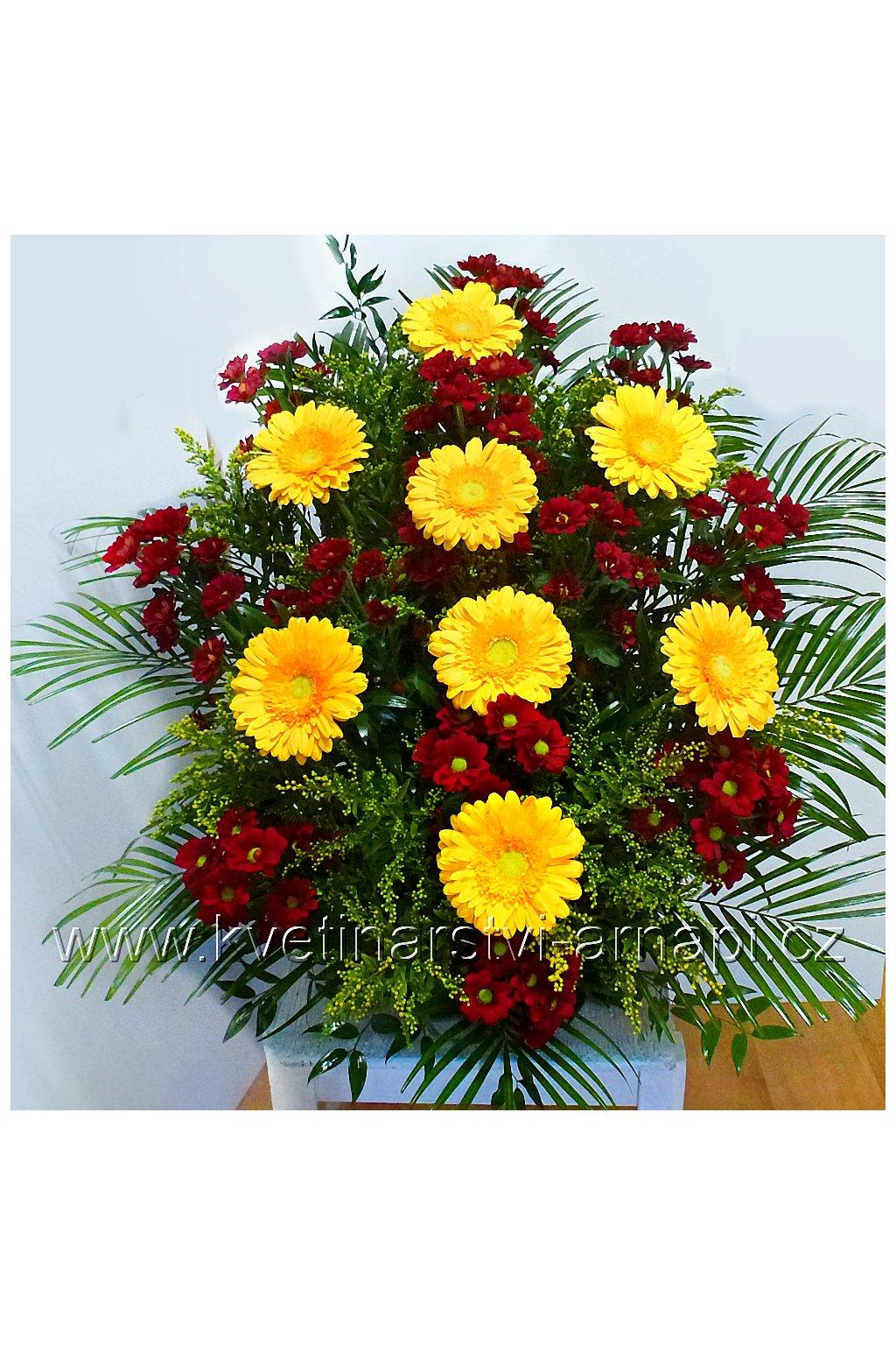 smutecni kytice do drzaku gerbery kvetinarstvi arnapi