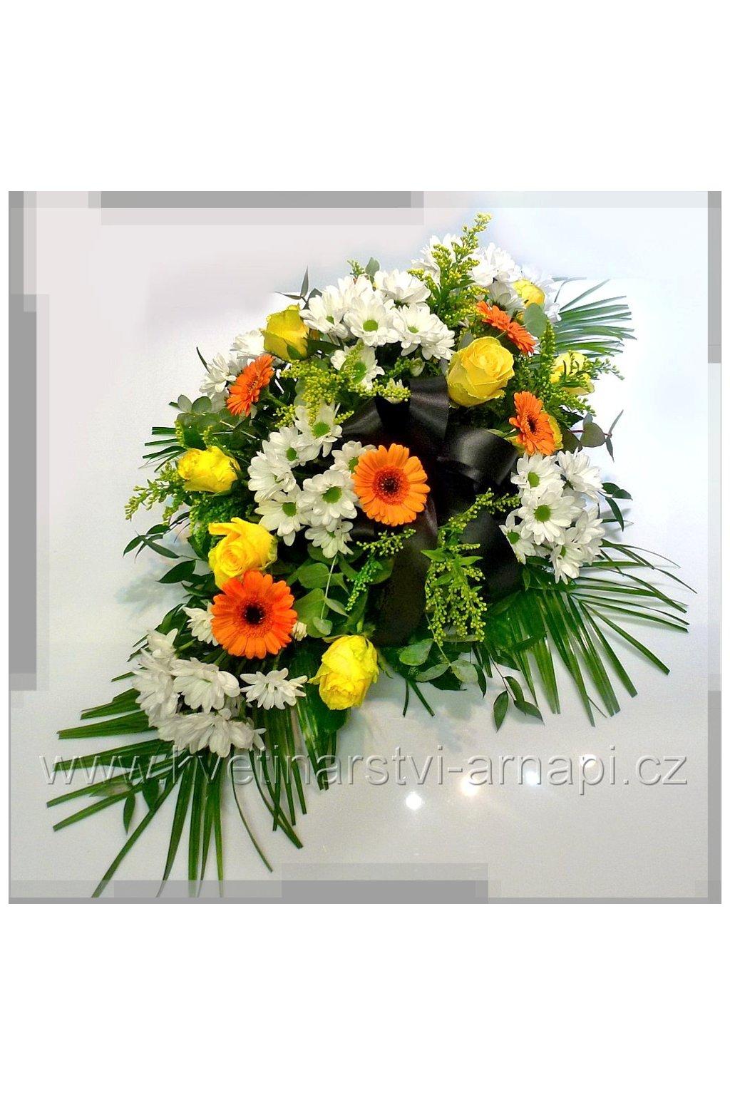 smutecni kytice vypichovana z gerber kvetinarstvi arnapi rozvoz