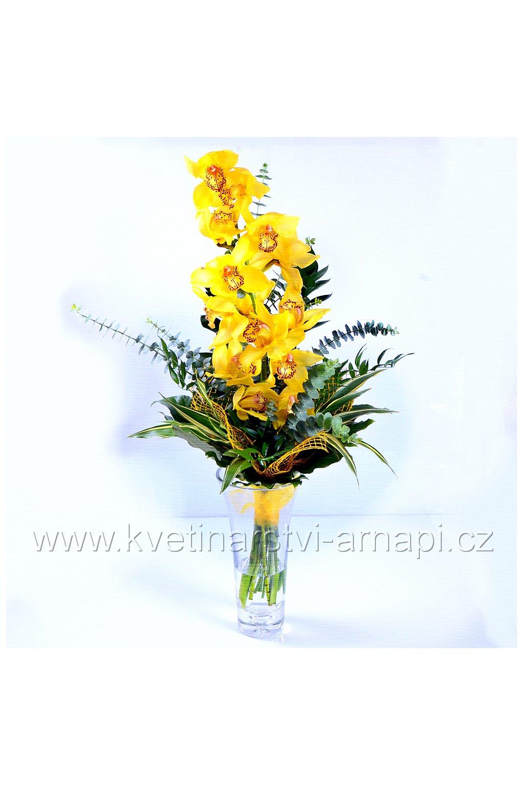darkova kytice orchidej zluta kvetinarstvi arnapi