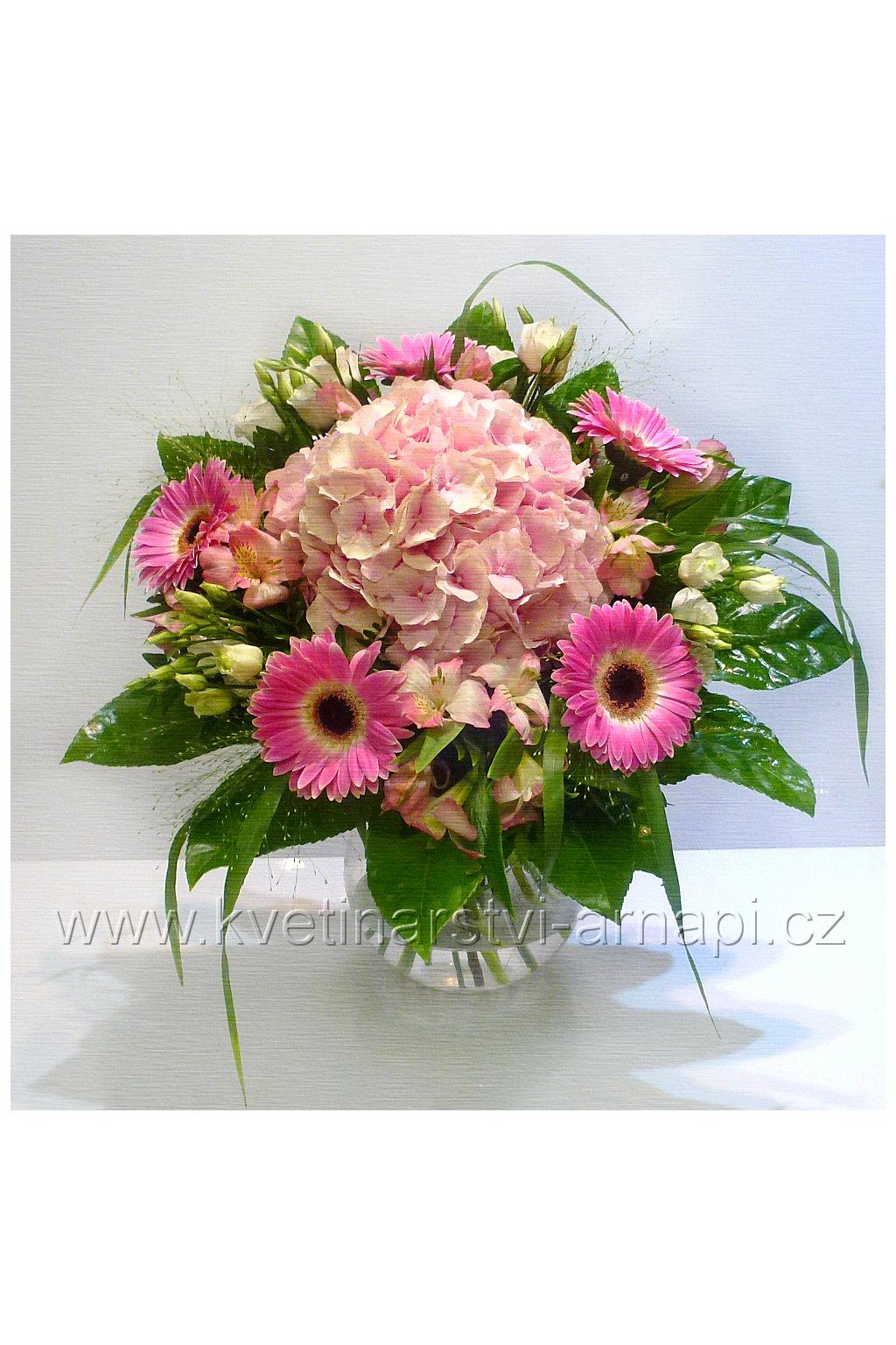 kytice kvetiny online prodej hortenzie kvetinarstvi arnapi