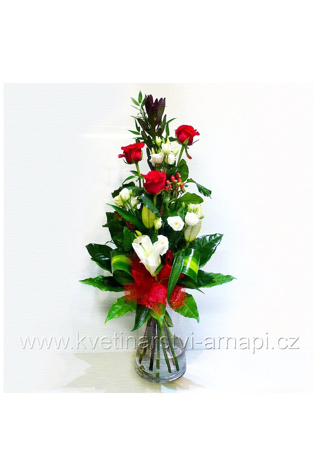 kytice ruze lilie darkova prodej online kvetinarstvi arnapi