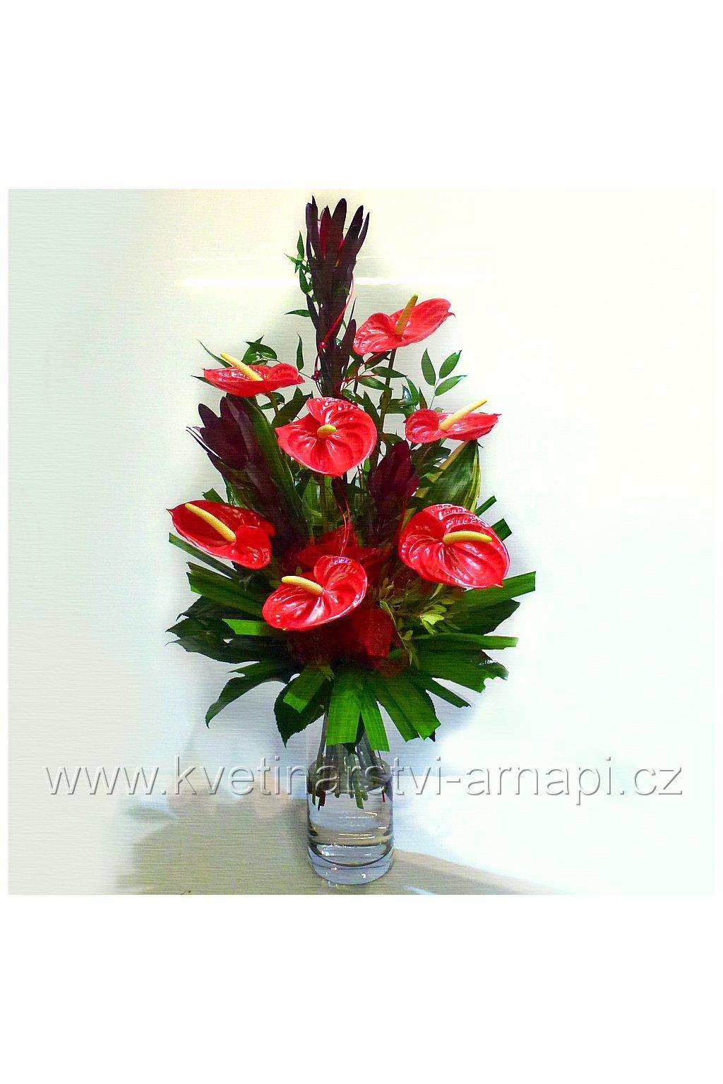 kytice anthuria kvetinarstvi arnapi