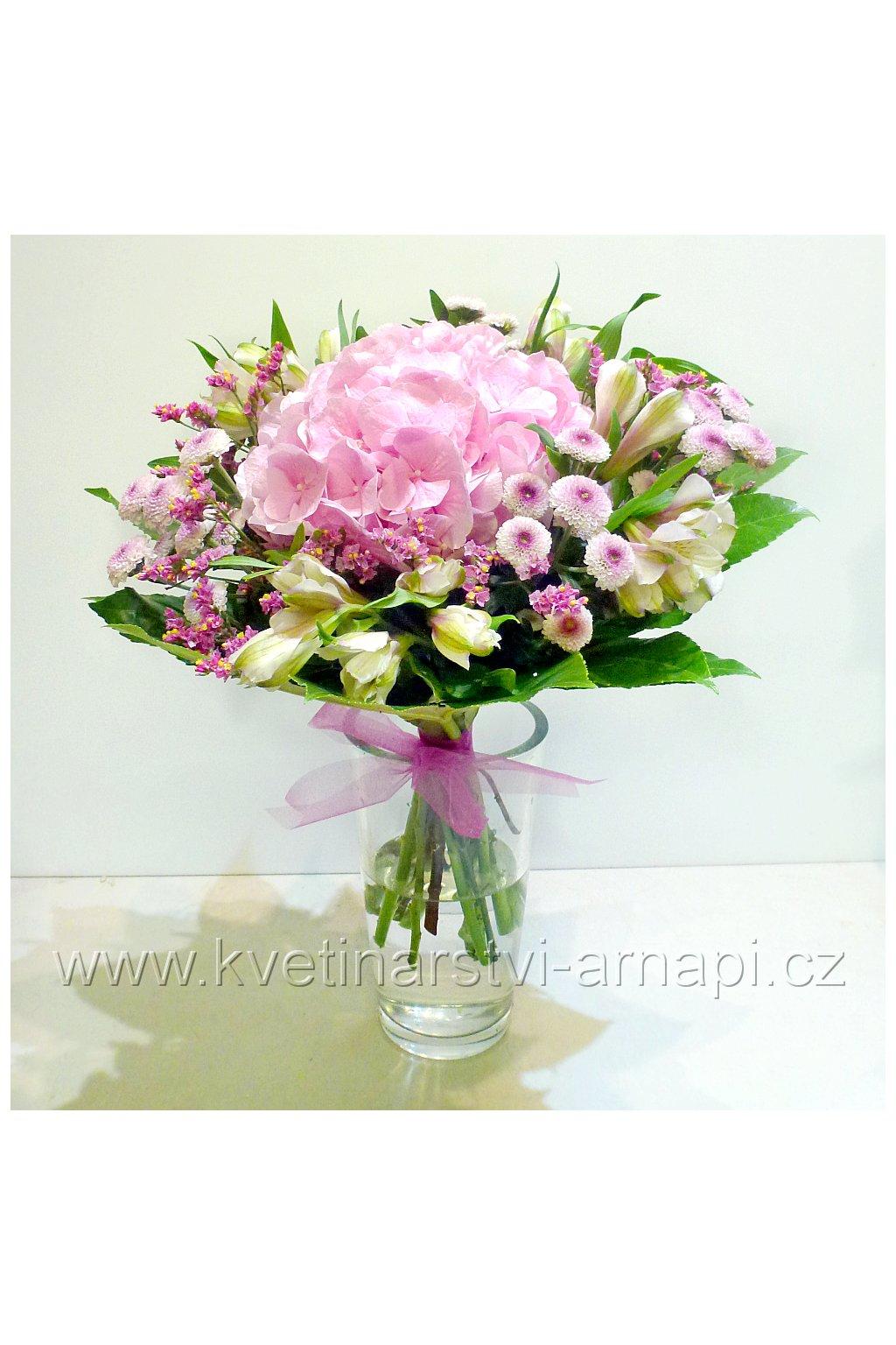 kytice ruzova kvetinarstvi arnapi
