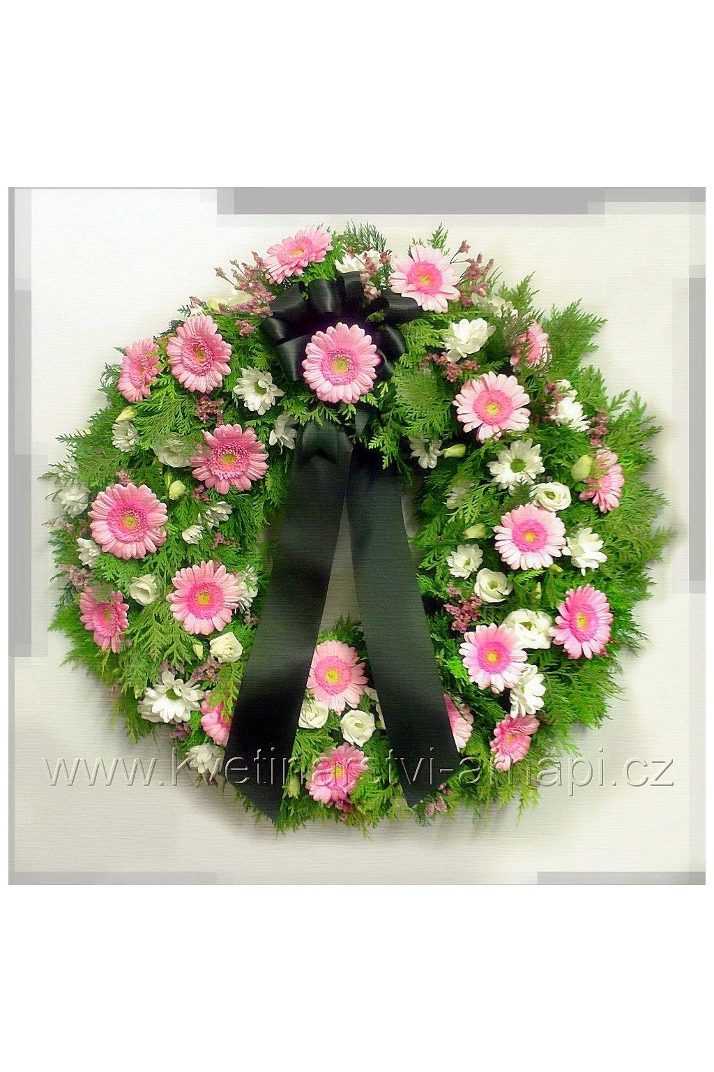 smutecni venec online kvetiny kvetinarstvi arnapi
