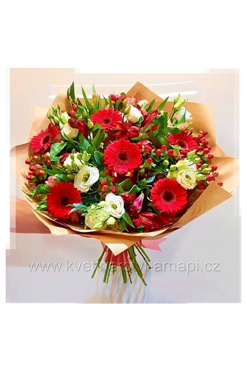 darkova kytice gerbery eustoma kvetinarstvi arnapi