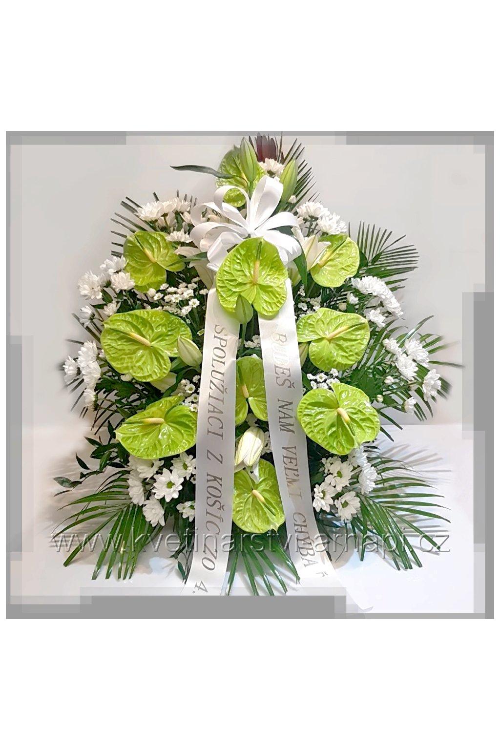 smutecni kytice vypichovana eshop rozvoz kvetinarstvi arnapi
