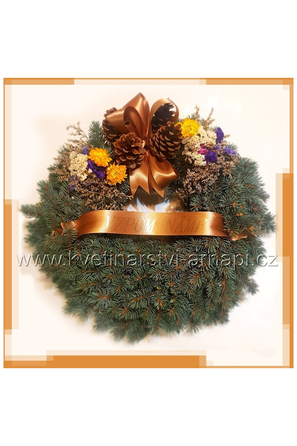 venec stribrny smrk dusicky kvetinarstvi arnapi rozvoz