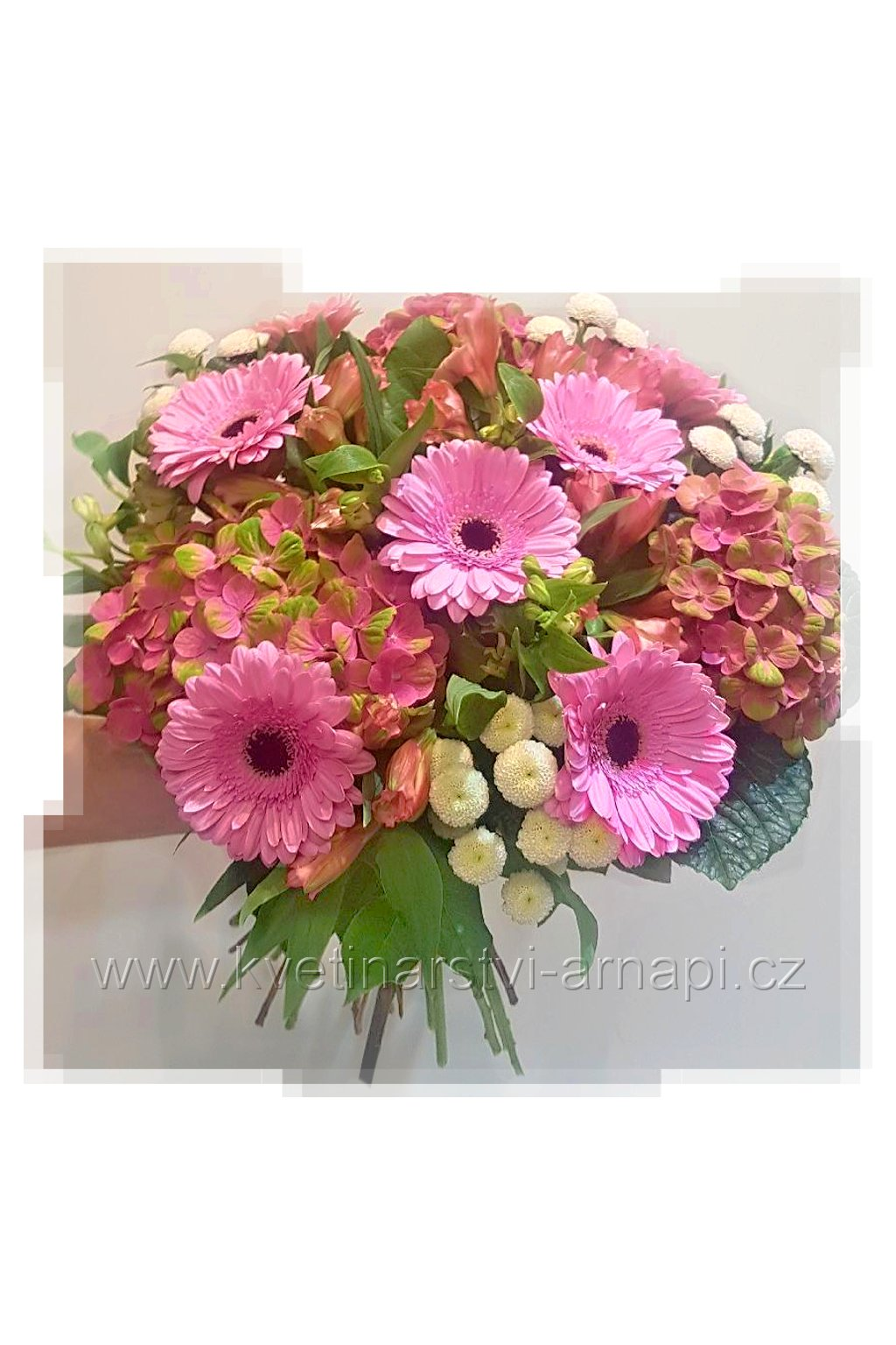 darkova kytice hortenzie santini gerbery kvetinarstvi arnapi