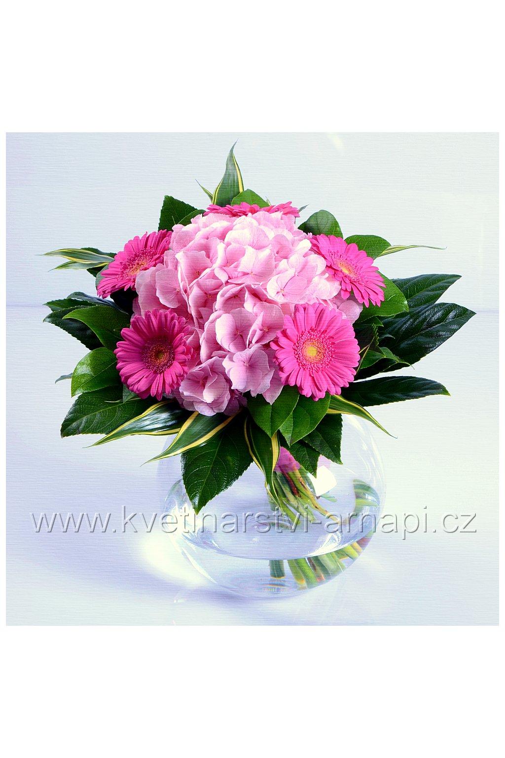 darkova kytice hortenzie kvetinarstvi arnapi
