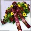 smutecni kytice vypichovana z germin zlutych kvetinarstvi arnapi rozvoz
