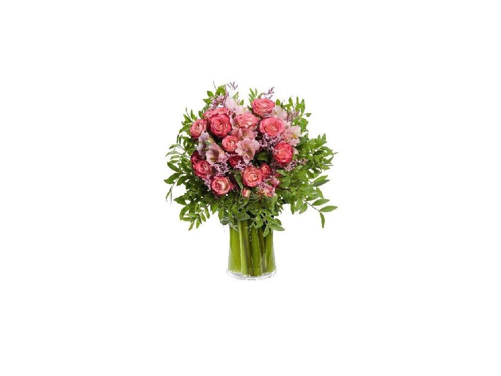 Květiny Gelnarová Dárková kytice + plyšový medvídek