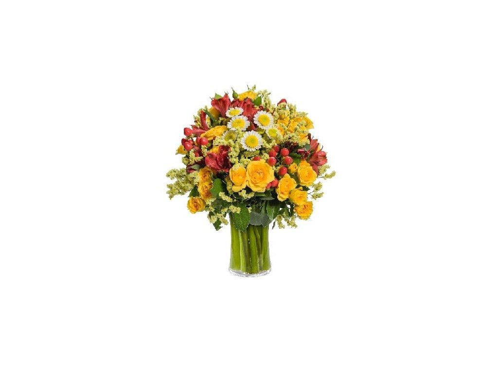 Květiny Gelnarová kytice s plyšákem