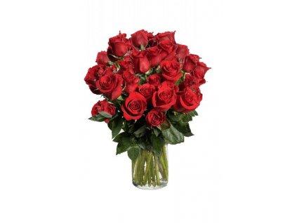 Květiny Gelnarová kytice červených růží7