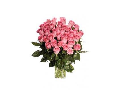 Květiny Gelnarová kytice růžových růží1