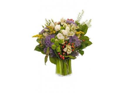 Květiny Gelnarová Eustoma, Santini, Chryzantema 1