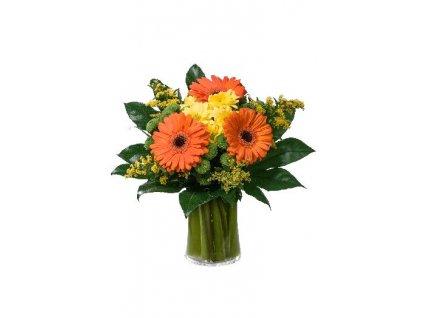 Květiny Gelnarová Dárková kytice, oranžové gerbery