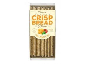 Danvita Křehký pšeničný chléb se sýrem, rajčaty a bazalkou w