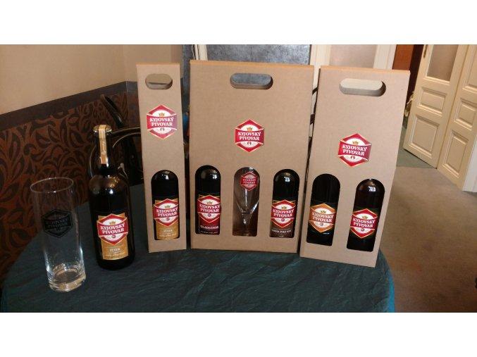 Dárková krabička na 2ks piv